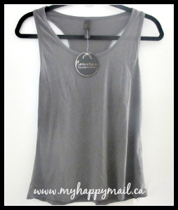 Wantable Intimates Pajama Drama Racerback Grey Tank Top - Dreamweave Pajama Drama