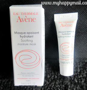 Ipsy Review September 2015 GlamBag Eau Thermale Avene Soothing Moisture Mask