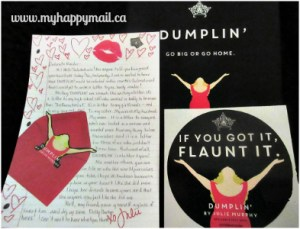 Owlcrate Review September 2015 Leading Ladies Book Subscription Box Letter from the Author Sticker Dumplin