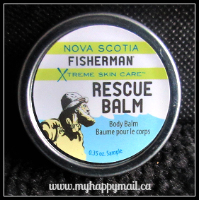 Topbox Review September 2015 Nova Scotia Fisherman RESCUE BALM Body Balm