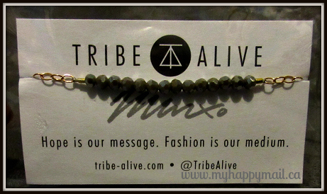 FabFitFun VIP Review Fall Box - Subscription Box Tribe Alive Grey Bracelet