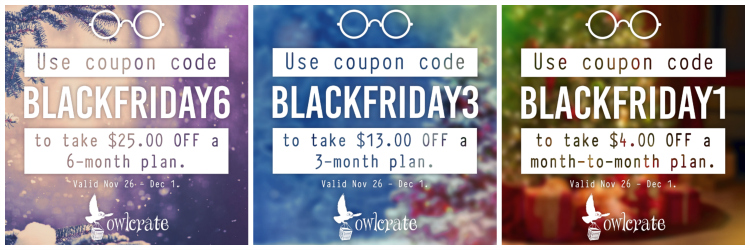 OwlCrate Black Friday Deals