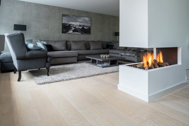 Stylish White floor for residential project by Dennebos Flooring
