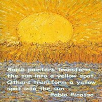 Pablo Picasso: Transforming a Yellow Spot into the Sun