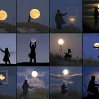Perspective Illusions: Dancing with the Moon