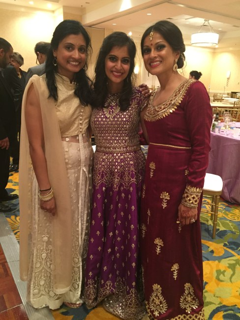 Cousins at Indian wedding reception