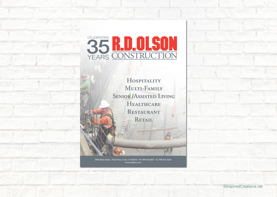 RD Olson Construction_Newspaper Full Page