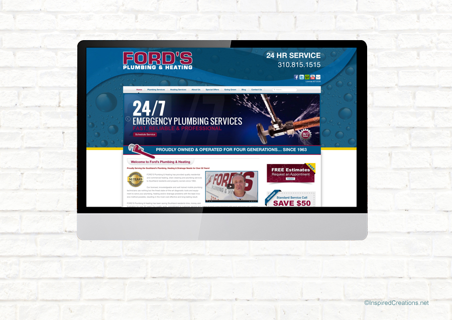 Fords Plumbing & Heating – with Creative Marketing Services
