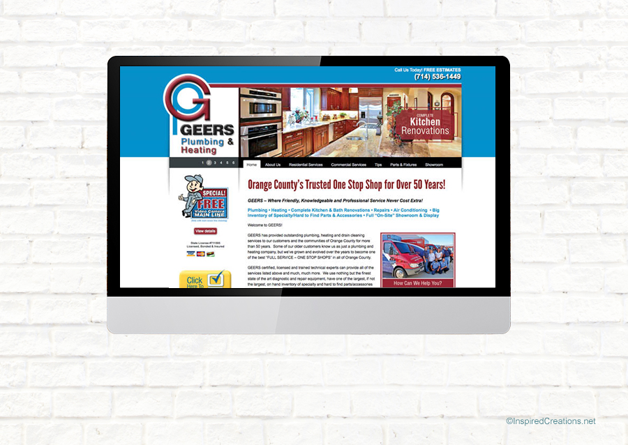 Geers Plumbing & Heating – with Creative Marketing Services