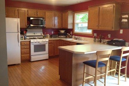 kitchen paint color ideas with oak cabinets impressive