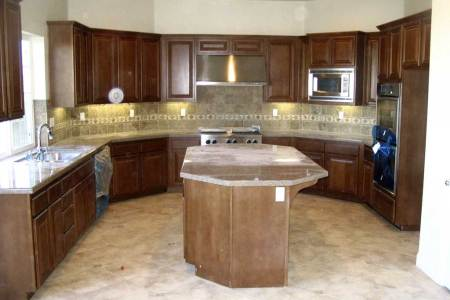 u shaped kitchen with center island