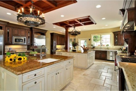 awesome large kitchen design ideas with cherry cabinets exterior design