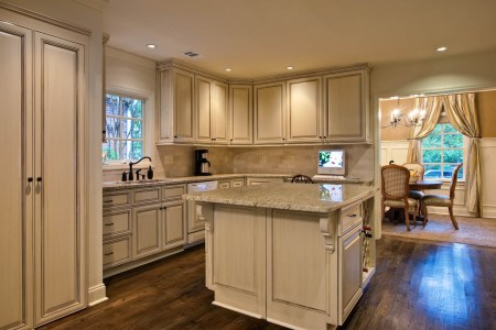 cheap kitchen remodel ideas applying white cupboard and island