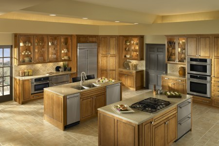home de kitchen design with double island