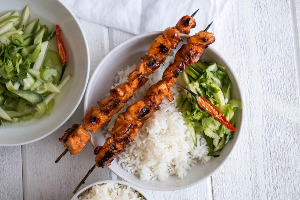 Korean Chicken Kebobs   My Kitchen Lvoe