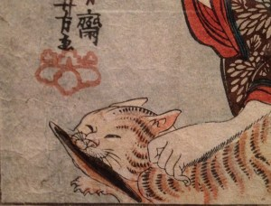 Japan Society Life of Cats 1845 print
