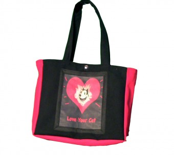 Love Your Cat canvas tote bag