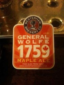 General Wolfe 1759 Maple Ale - Westerham Brewery