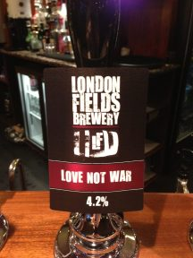 Love Not War - London Fields Brewery