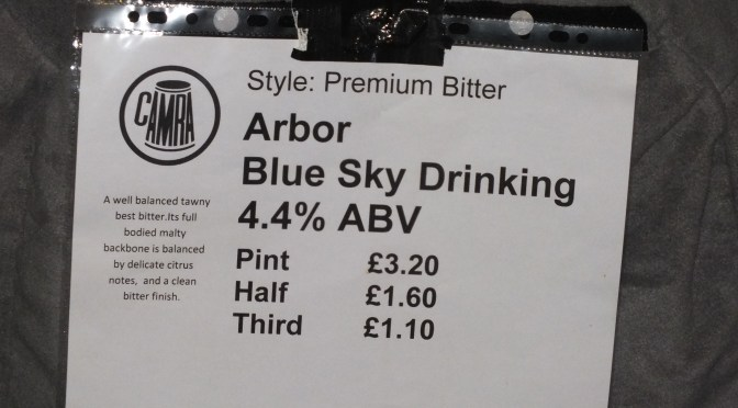 Blue Sky Drinking - Arbor Brewery