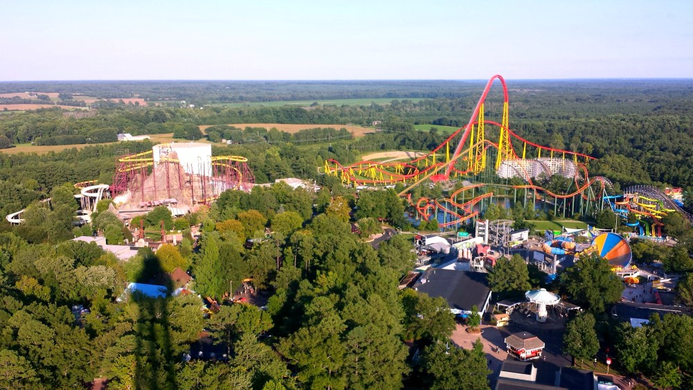 View from the Eiffel Tower at King's Dominion