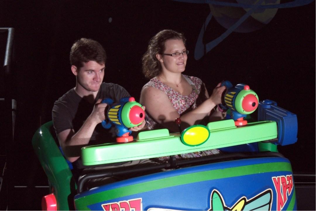 Buzz Lightyear ride at Disney World