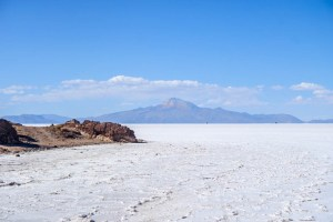 salt flat mountain