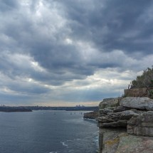Manly north head cloudy