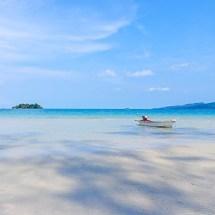 Koh Rong beach boat