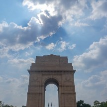 New Delhi-India Gate clouds