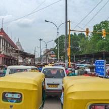 New Delhi-mad traffic jam