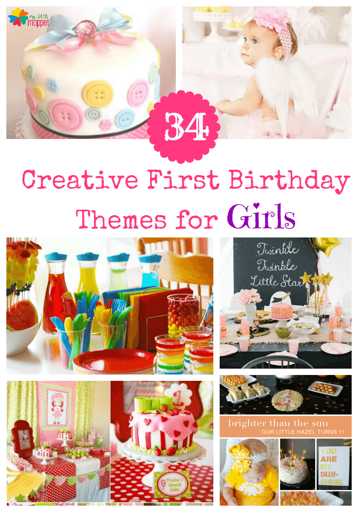 1st bday theme ideas for girls