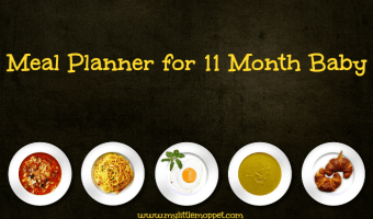 11 months Baby Meal Planner – Free Download