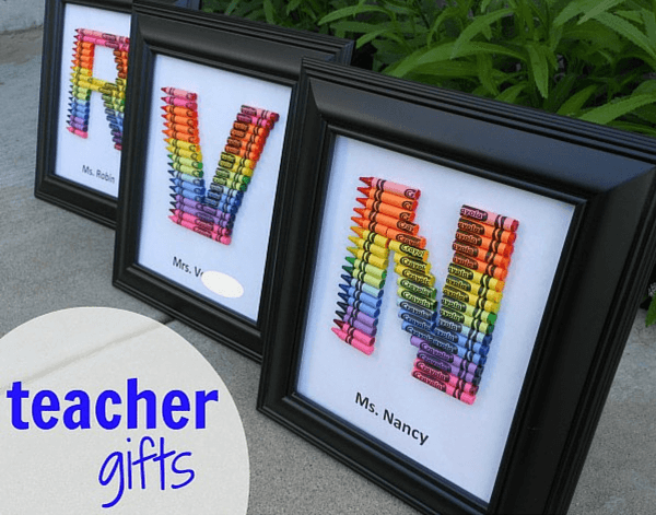 10 easy diy gift ideas for teachers for Diy monogram gifts