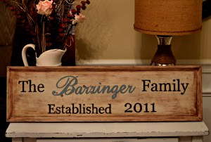"""Wooden Family Sign Tutorial"""