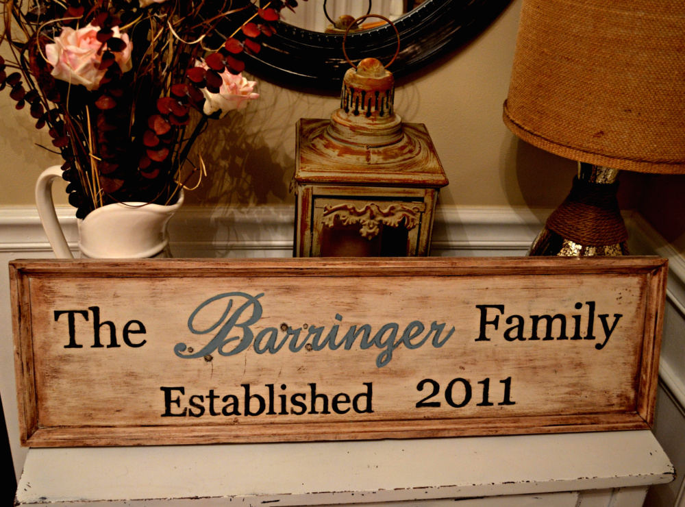 """Wooden Family Sign"""