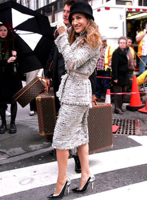 """Sarah Jessica Parker wearing a cloche hat"""