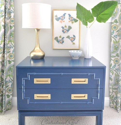 """Olympian Blue Side Table"""