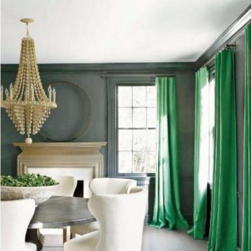 """ultramarine green curtains"""