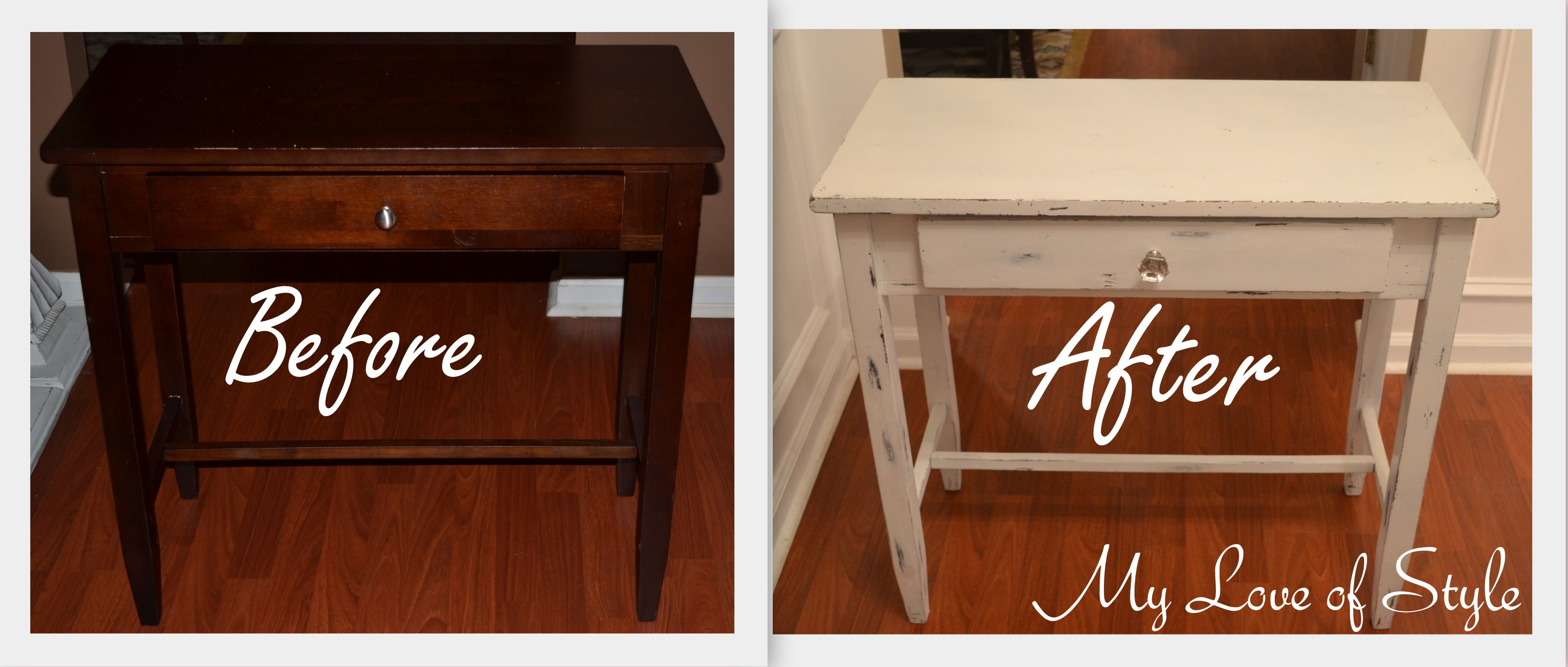 DIY Shabby Chic Table Distressing Tutorial My Love Of Style My Love Of