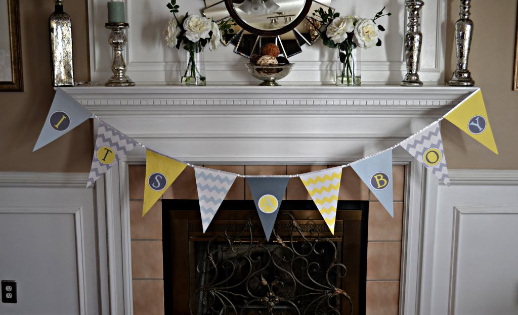 """Baby Shower Pennant Banner"""