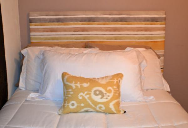 """DIY Upholstered Headboard"""