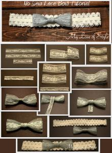 """Easy No Sew Lace Bow Tutorial"""