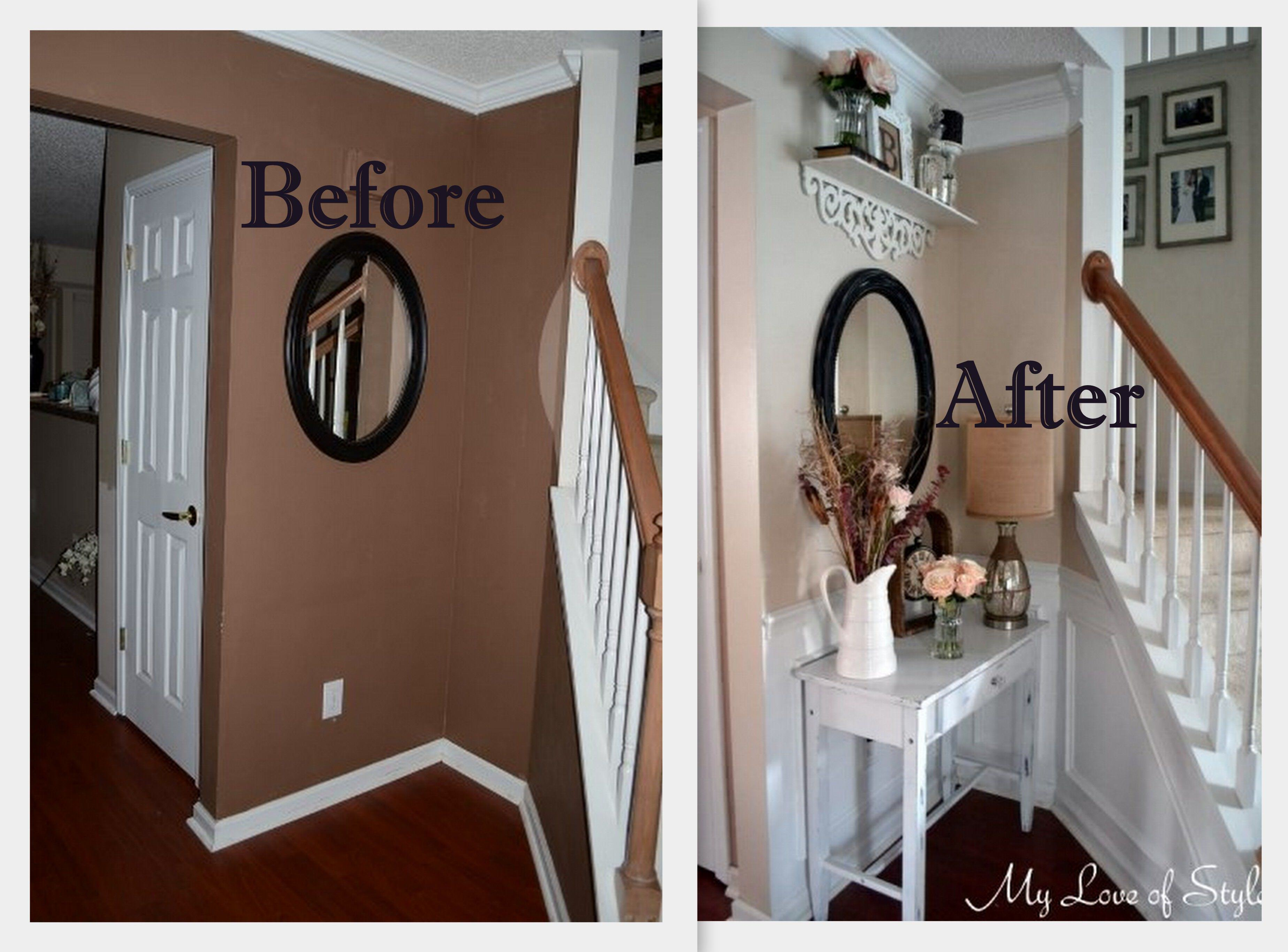 Room Before Foyer : Budget shabby chic foyer makeover my love of style