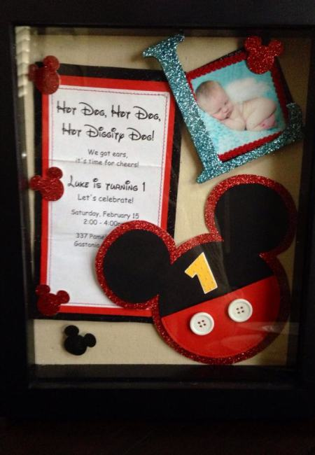 Shadow Box Invitation Display
