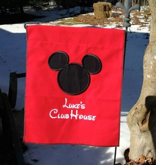 custom mickey mouse flag