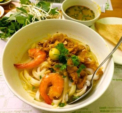 Mì Quảng Tôm Thịt (shrimp and pork noodle soup)