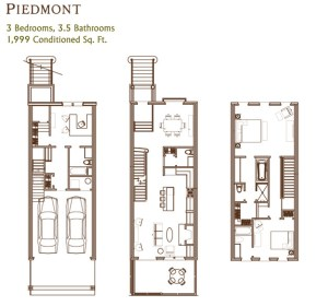 Ansley Parkside Townhomes Piedmont Floorplan
