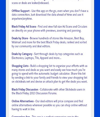 Best Black Friday 2013 Deals App