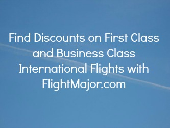 Find Discounts on First Class and Business Class International Flights on This Website